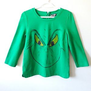 Lord & Taylor The Grinch petite green zip sweater